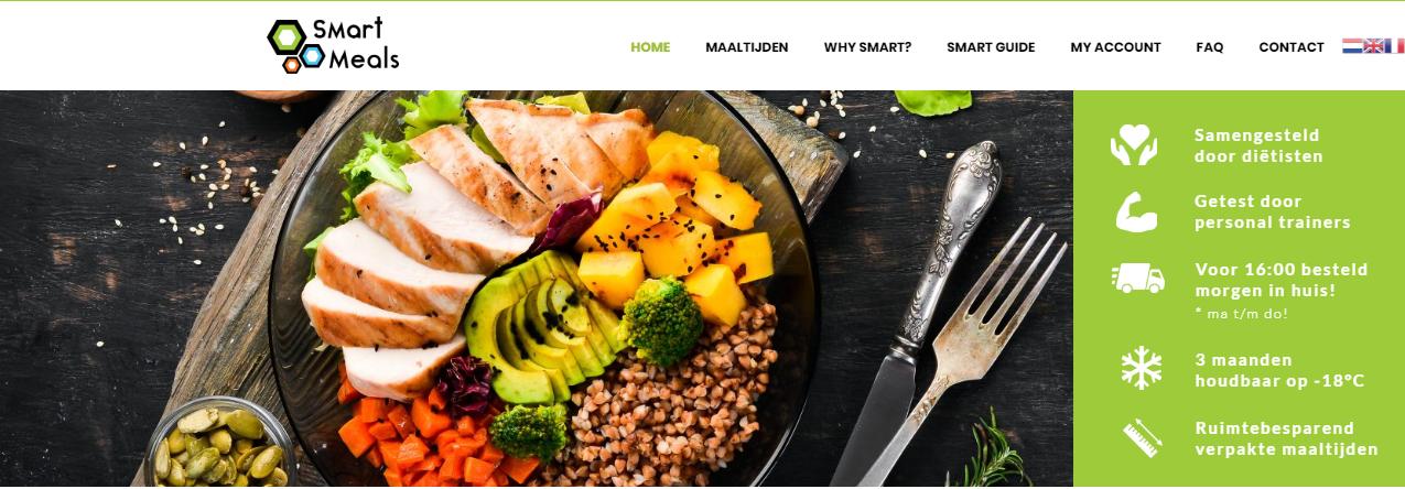 Haal nu je slimme maaltijden voor het behalen van jouw doelen bij Smart-Meals!